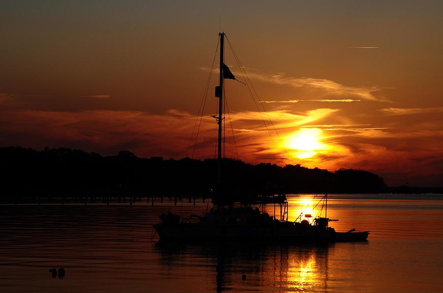 Sunset Photograph - Burning Daylight by Tiffney Heaning