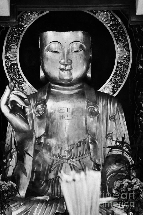 Burning Photograph - Burning Incense In A Buddhist Temple Sha Tin Hong Kong China by Joe Fox