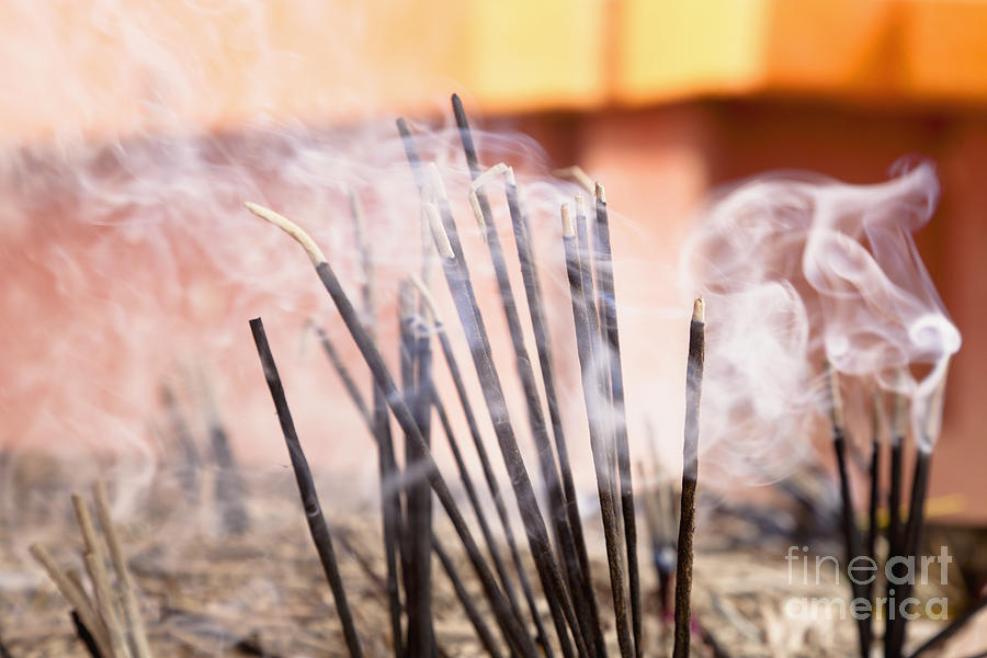 Burn Photograph - Burning Incense by Inti St. Clair