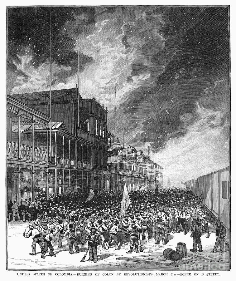 1885 Photograph - Burning Of Colon, 1885 by Granger