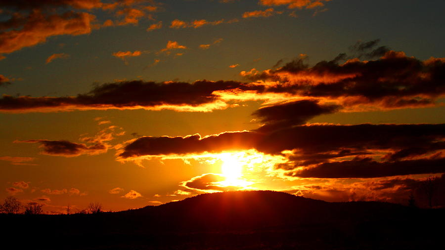 Sunset Photograph - Burning Sky Sunset by Brian Bielert