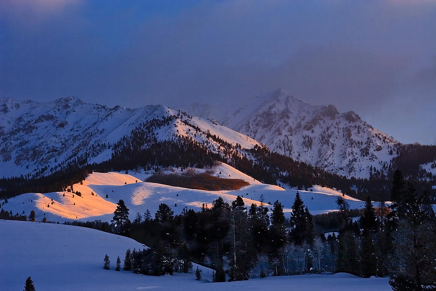 Snow Photograph - Burning Snow by Jim Neumann