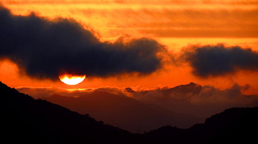Photo Photograph - Burning Sunset  by Catherine Natalia  Roche