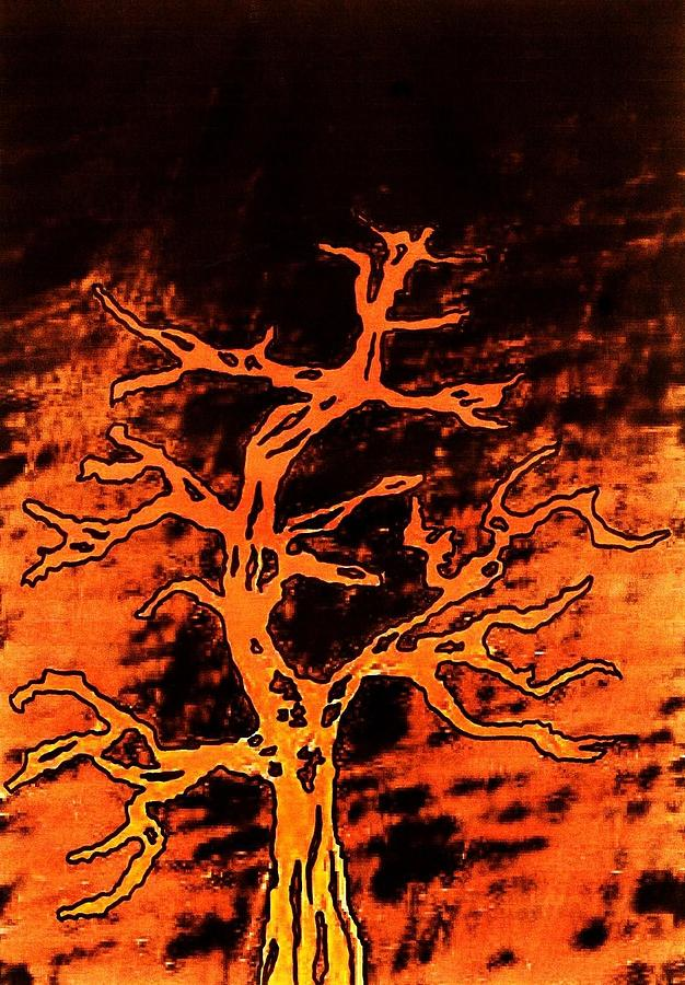 Nature Digital Art - Burning Tree by Richard Lloyd
