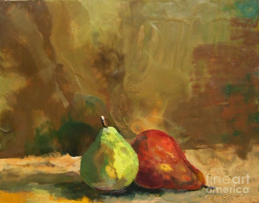 Pears Painting - Burnished Pears by Ruth Stromswold