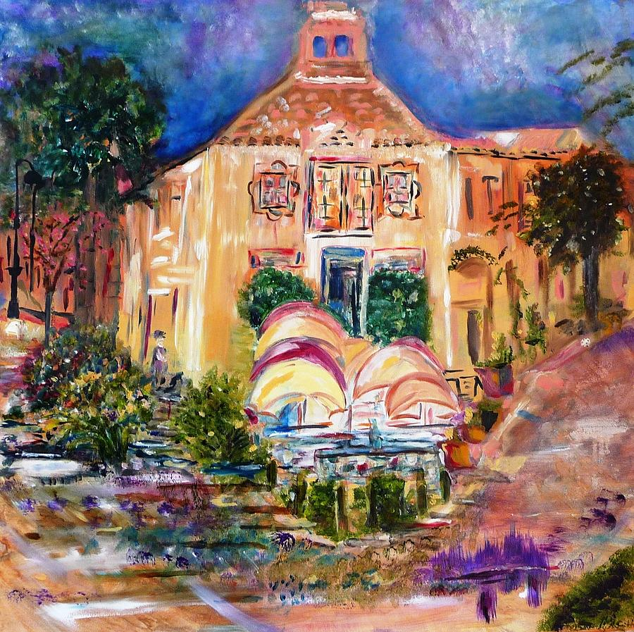Abstract Painting - Burns Square by Beverly Smith