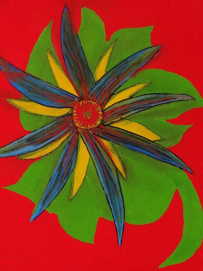 Flowers Painting - Burst by Nancy Fillip