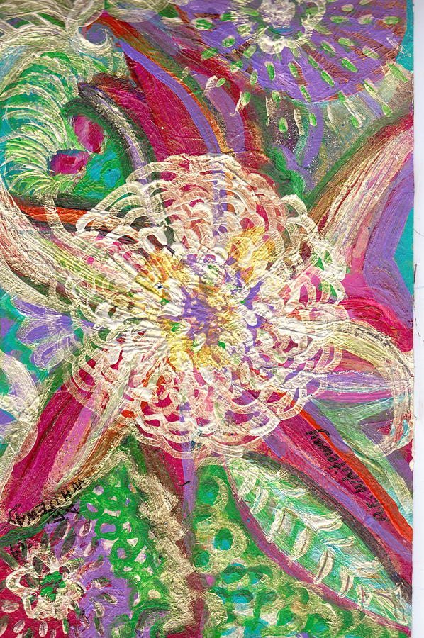 Flower Painting - Burst Of Flower Power by Anne-Elizabeth Whiteway