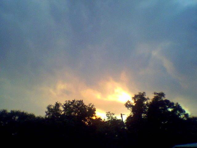 Bright Painting - Bursting Clouds by Debbie Wassmann