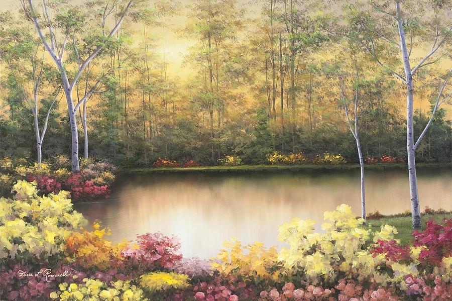 Birch Tree Prints Painting - Bursting In Autumn by Diane Romanello