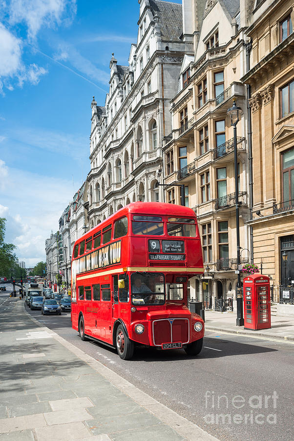 Red Bus Photograph - Bus On Piccadilly by Andrew  Michael