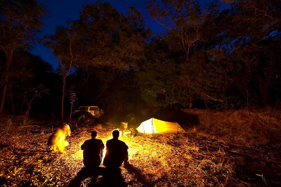 Horizontal Photograph - Bush Camp At Midway Waterhole by Johnny Haglund