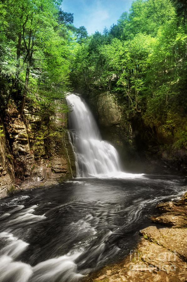 Hdr Photograph - Bushkill Waterfalls by Yhun Suarez