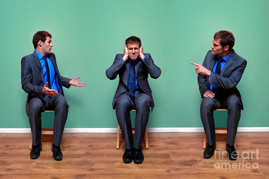 Argument Photograph - Businessman Argument by Richard Thomas