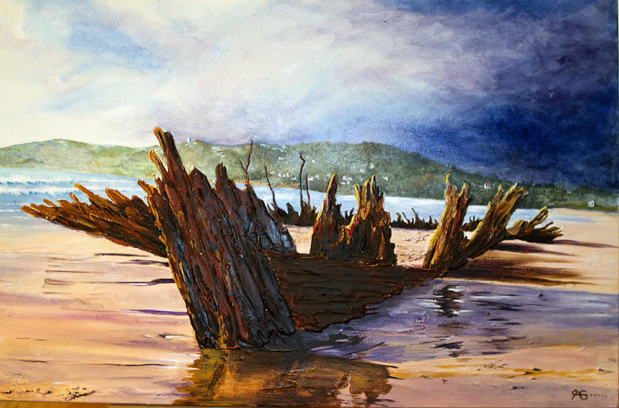 Shipwreck Painting - Buster by Carol McLagan