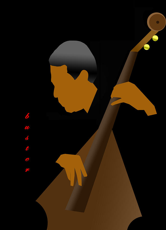 Jazz Digital Art - Buster Williams by Victor Bailey