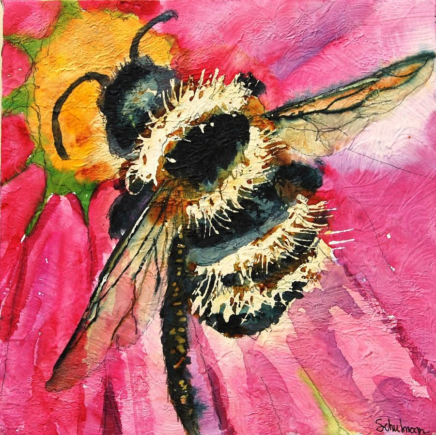 Busy As A Bee Painting by Miriam Schulman