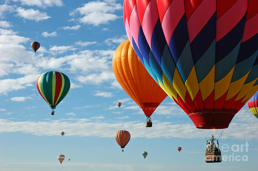 Hot Air Balloons Photograph - Busy Times by Vivian Christopher
