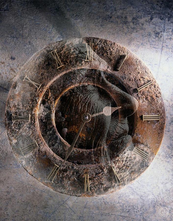 Clock Digital Art - ...but How About Time by Gun Legler