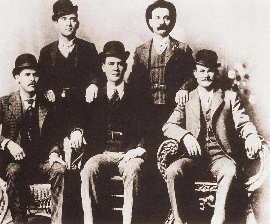 History Photograph - Butch Cassidys Wild Bunch Gang Of Train by Everett