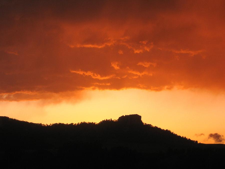 Butte at sunset Photograph by J W Kelly