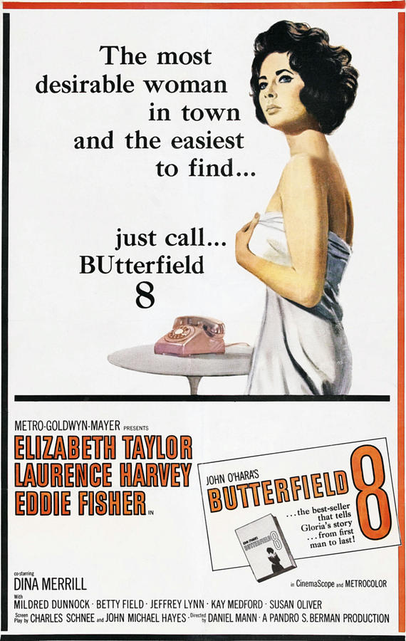 1960 Movies Photograph - Butterfield 8, Elizabeth Taylor, 1960 by Everett