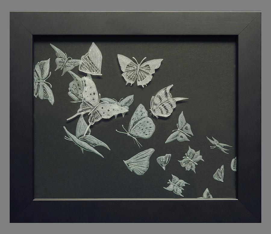 Fineartamerica Painting - Butterflies by Akoko Okeyo