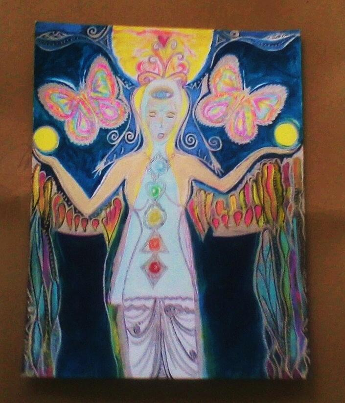 Blessing Painting - Butterfly Blessings by Crystalin Ian