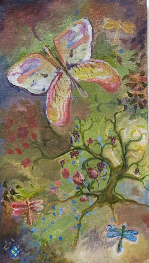 Butterflies Painting - Butterfly Daydream by Elizabeth Clary-Boyd