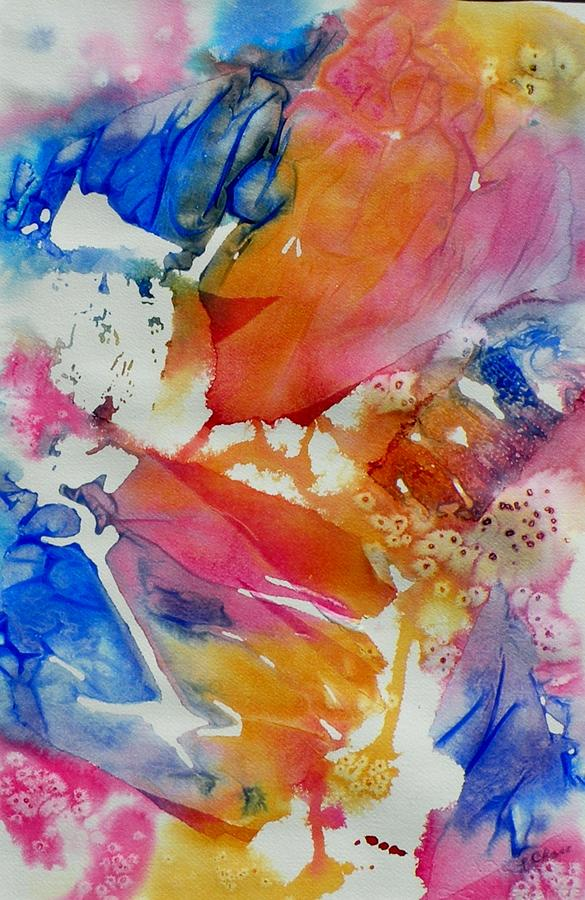 Abstract Painting - Butterfly Garden by Lori Chase