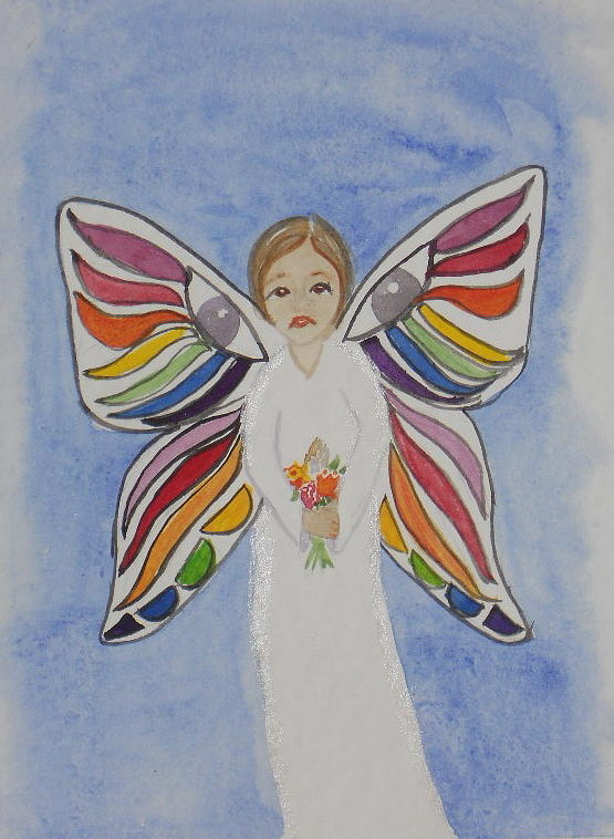 Butterfly People Painting - Butterfly People Sympathy by DJ Bates