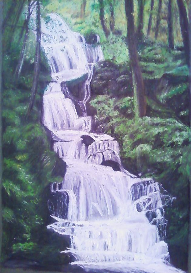 Water Painting - Buttermilk Falls by Samuel McMullen