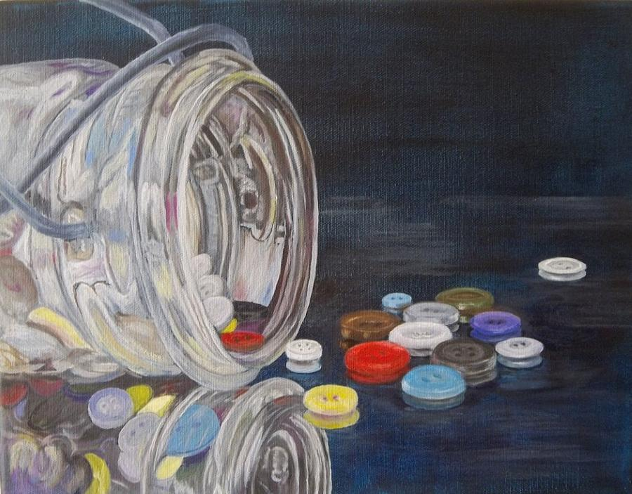 Button Reflections Painting By Betty Henderson