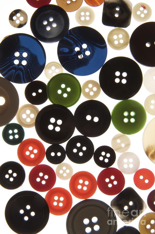Abundance Photograph - Buttons by Bernard Jaubert
