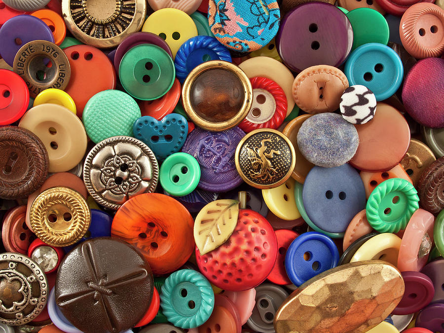 Horizontal Photograph - Buttons by Jeff Suhanick