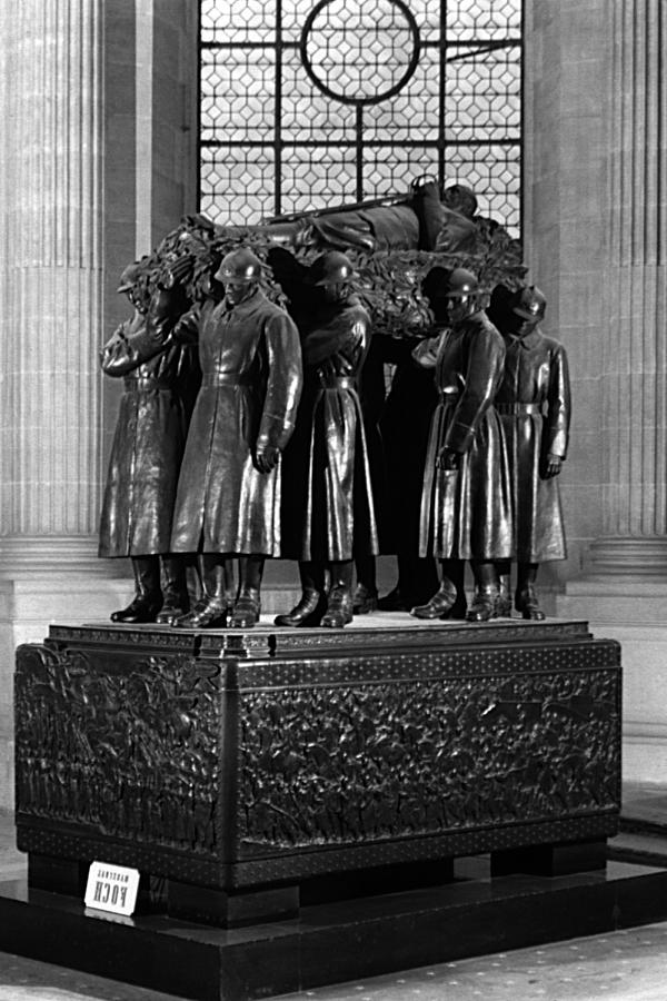 Black Photograph - Bw France Paris Invalides Marshal Foch Tomb 1970s by Issame Saidi