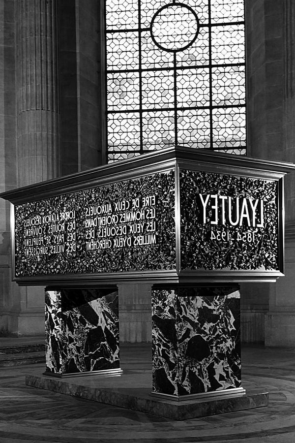 Black Photograph - Bw France Paris Marshals Lyautey Tomb 1970s by Issame Saidi