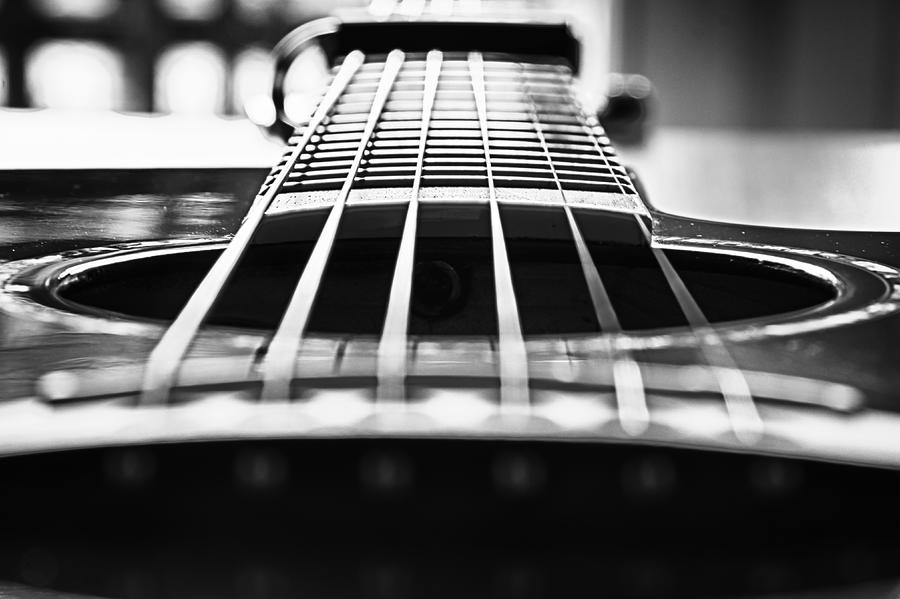 Bw Photograph - Bw Guitar by Javier Luces