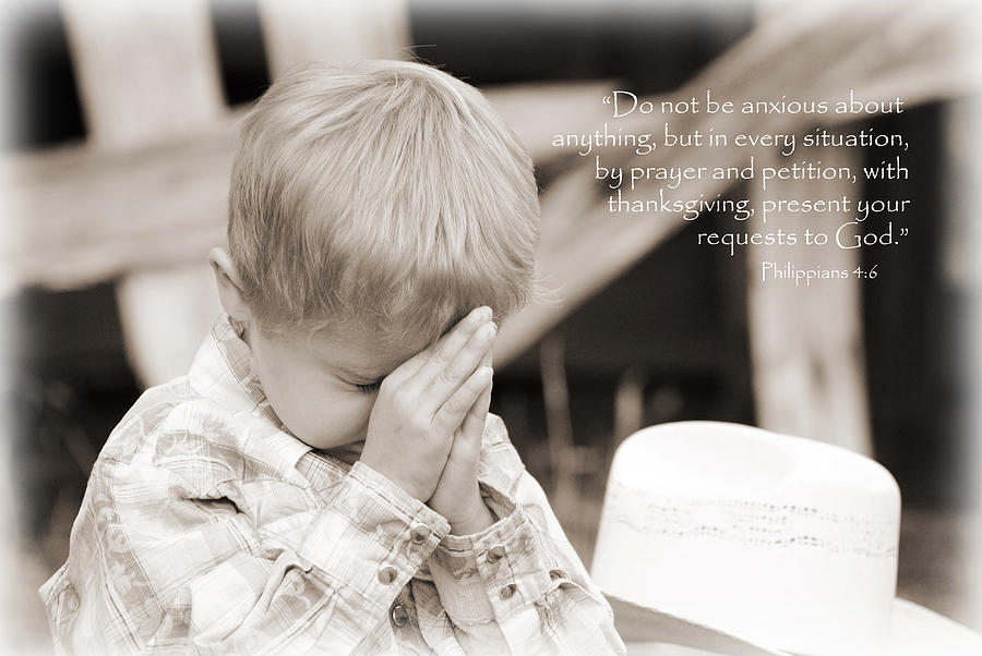 Children Photograph - By Prayer And Petition... by Lisa Moore