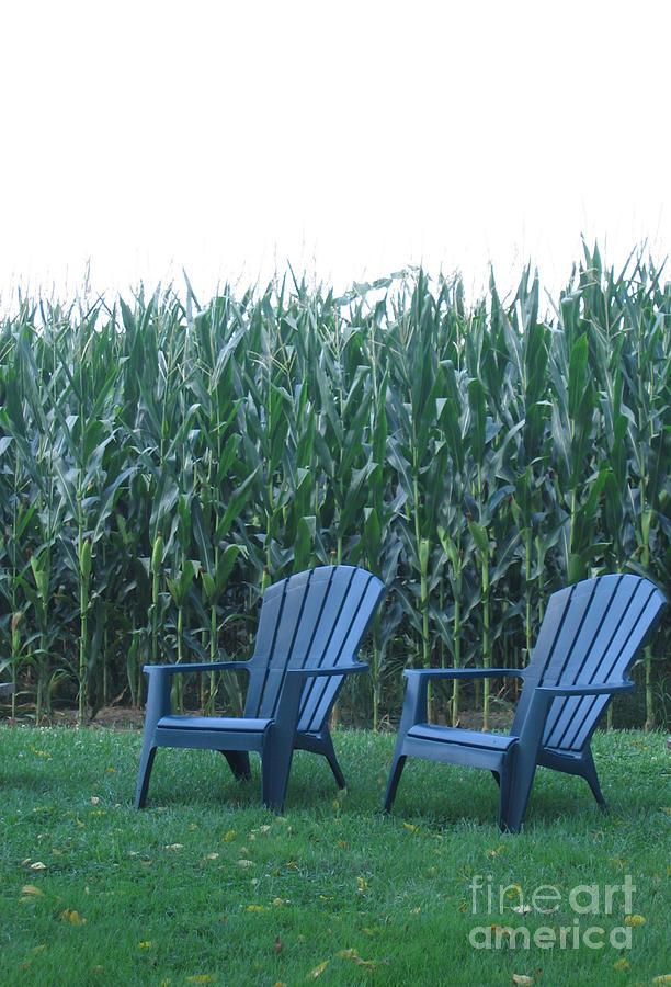 Pennsylvania Farm Photograph - By the Cornfield by Marlene Robbins