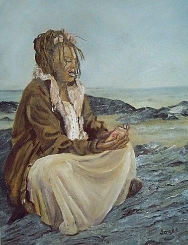 Landscape Painting - By The Shore by Joyce Reid