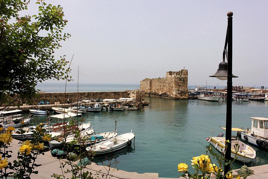 Travel Photograph - Byblos Waterfront by Tia Anderson-Esguerra