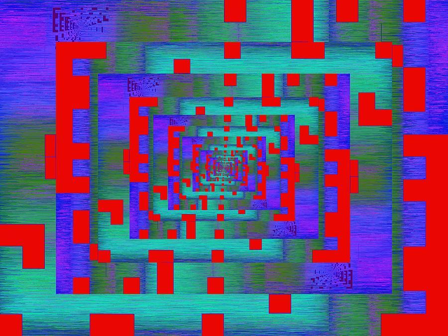 Byte Digital Art - Byte Byway by Tim Allen