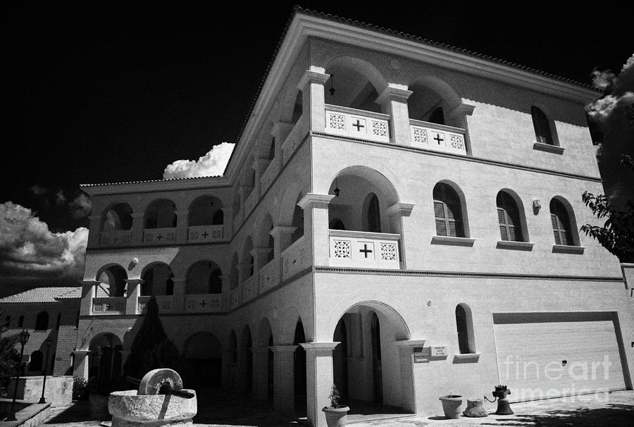 Republic Photograph - Byzantine Museum And Holy Bishopric Of Arsenoe In Peristerona Village Republic Of Cyprus Europe by Joe Fox