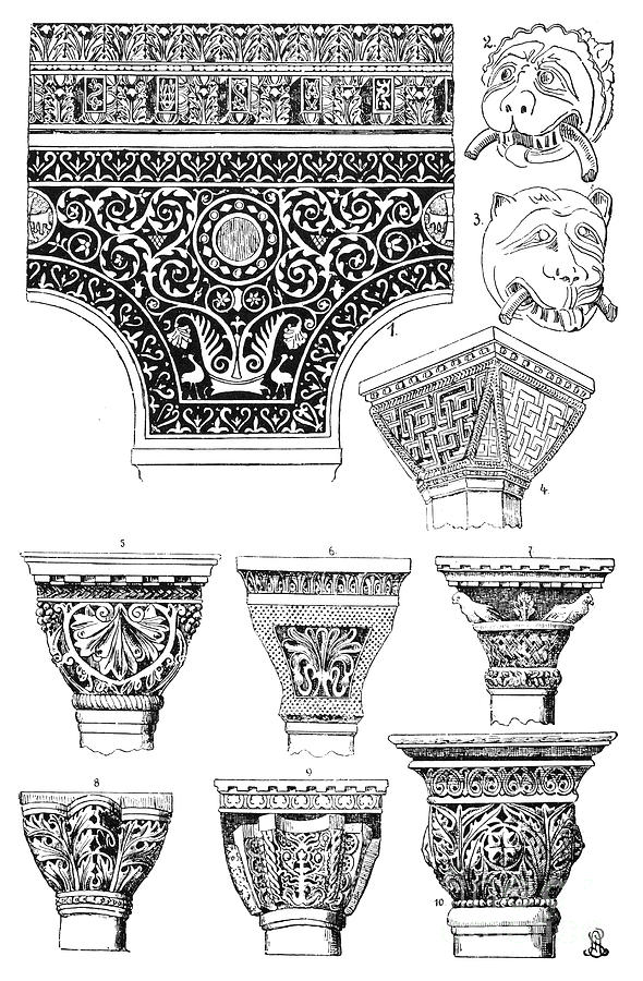 Ancient Photograph - Byzantine Ornament by Granger
