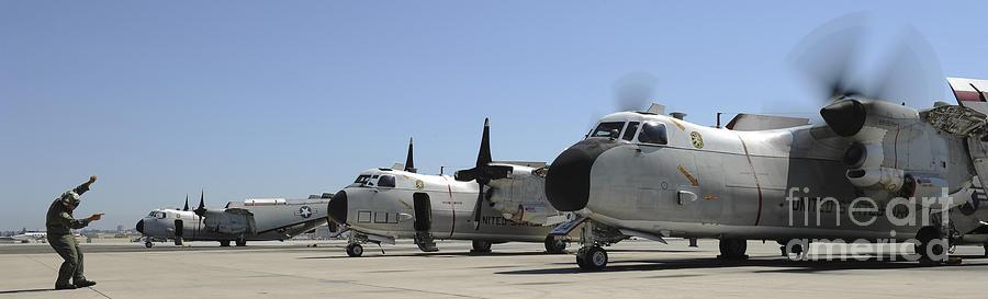 San Diego Photograph - C-2a Greyhound Aircraft Start by Stocktrek Images