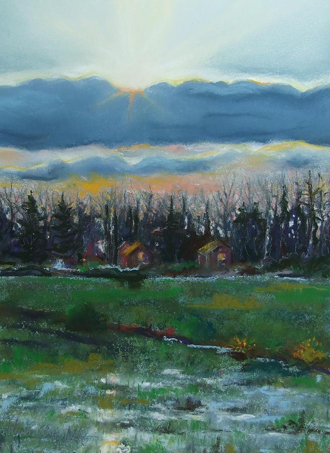 Sun Painting - Cabanes dans les Bois by Marie-Claire Dole