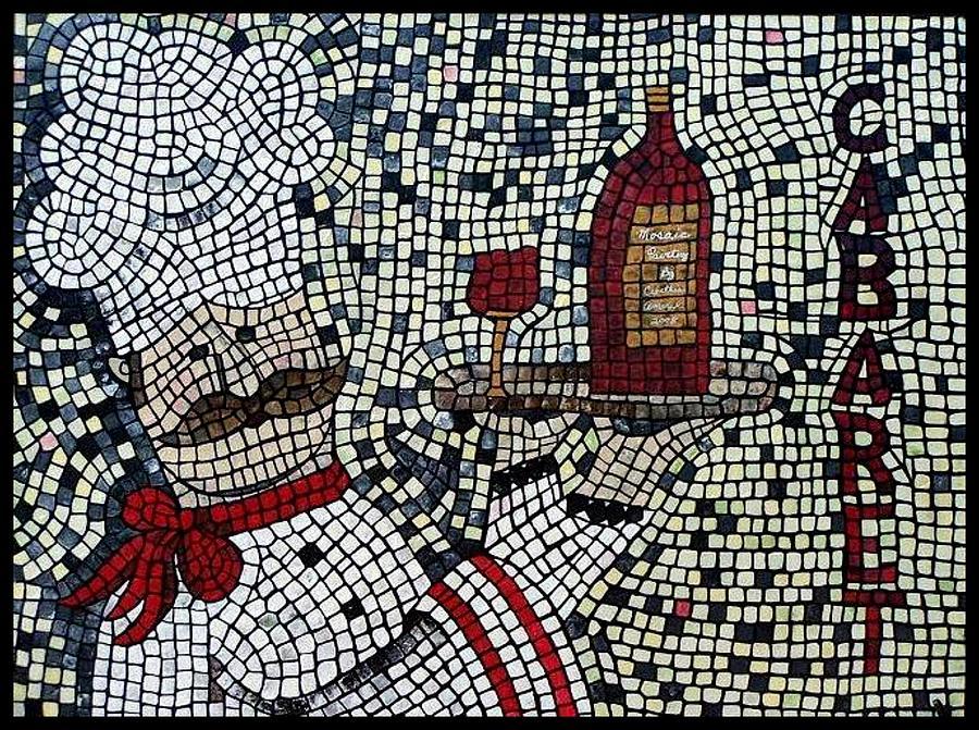 Wine Painting - Cabaret Wine by Cynthia Amaral