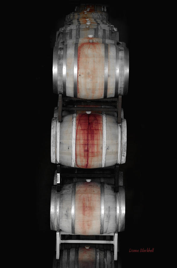 Barrel Photograph - Cabernet by Donna Blackhall