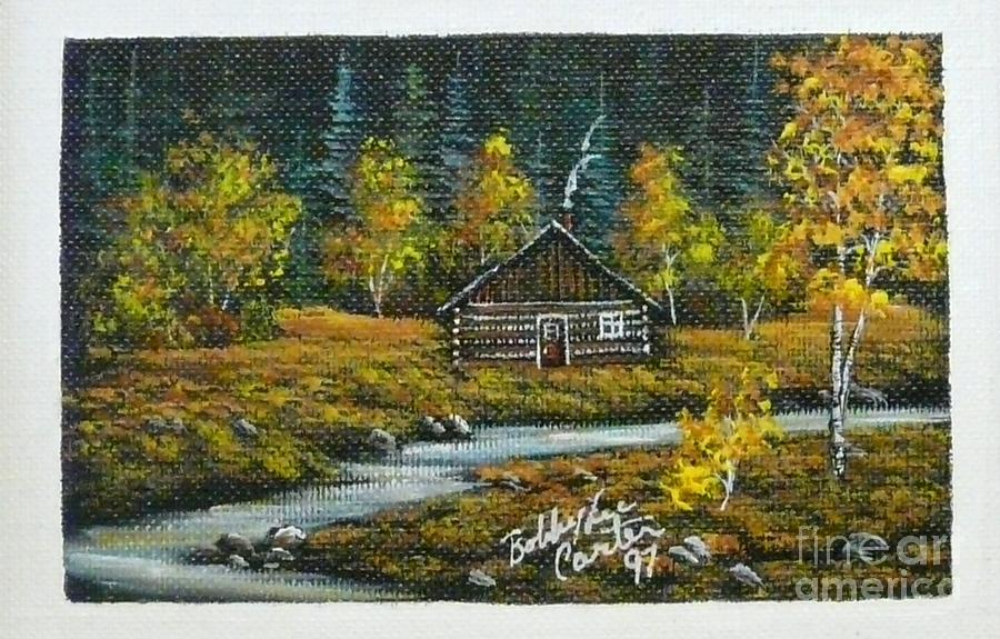 Cabin In The Woods Painting By Bobbylee Farrier